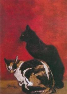 Théophile Alexandre Steinlen. Les chats